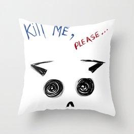 Depressive Cat  Throw Pillow
