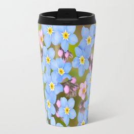 Forget-me-not flowers and buds - summer meadow Travel Mug