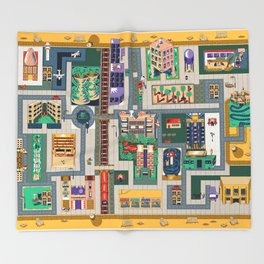 Map of life Throw Blanket
