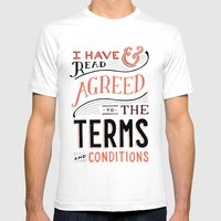 Terms and Conditions MEDIUM White Mens Fitted Tee