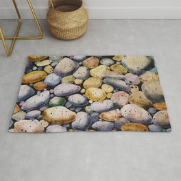 beach stones Rug