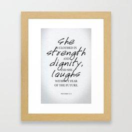 She: Typography Framed Art Print