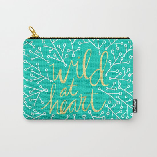 Wild at Heart – Turquoise Carry-All Pouch