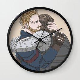 They hug Wall Clock