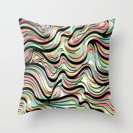 Neon Agate Throw Pillow