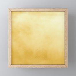 Modern elegant chic  faux gold foil gradient Framed Mini Art Print