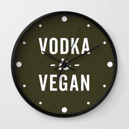 Vodka Is Vegan Funny Quote Wall Clock