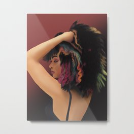 Rainbow Girl Metal Print