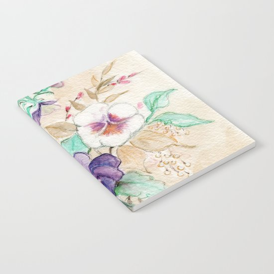 Pansies Bouquet Notebook