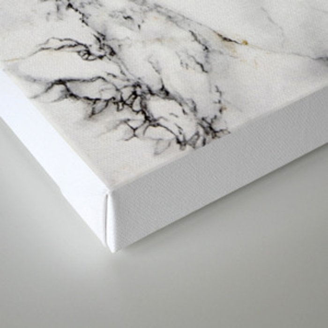 White Marble Texture Canvas Print
