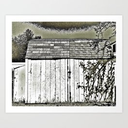 WHAT'S IN THE SHED! Art Print
