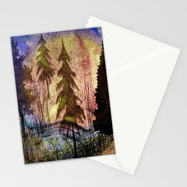 trees of many colors Stationery Cards