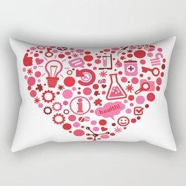 Biotech Heart Rectangular Pillow