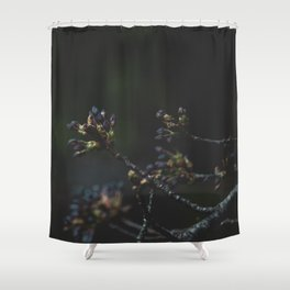 Sakura de Noir Shower Curtain