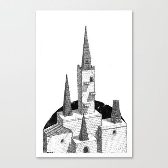 Hyrule Castle  Canvas Print