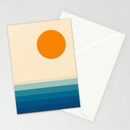Minimal line landscape II Stationery Cards