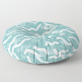 Low Tide | Turquoise Floor Pillow