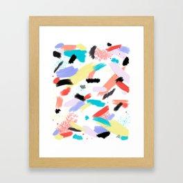 Throwback Splash Paint Framed Art Print