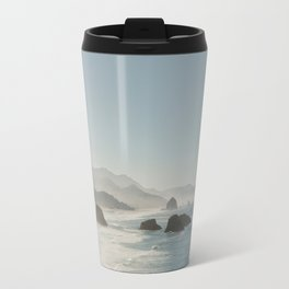 Hazy Morning at Cannon Beach, Oregon Travel Mug