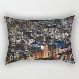 Tokyo Buildings at Night Rectangular Pillow