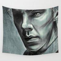 benedict Wall Tapestries featuring Benedict Cumberbatch by Schwebewesen • Romina Lutz