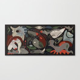 Geurnica Wobble - Hommage to Picasso Canvas Print