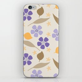 Abstract Violets iPhone Skin