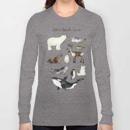 Arctic & Antarctic Animals Long Sleeve T-shirt