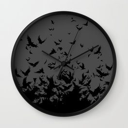 An Unkindness of Ravens (Grey) Wall Clock