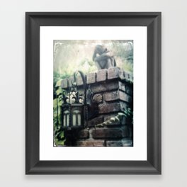 Haunted Mansion Angel Grief by Topher Adam 2017 Framed Art Print