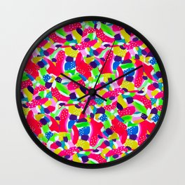 Colourful Abstract Wall Clock