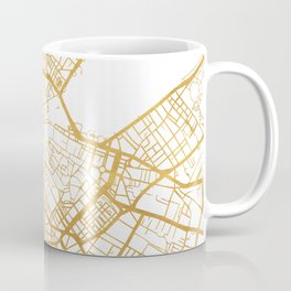 GENEVA SWITZERLAND CITY STREET MAP ART Coffee Mug