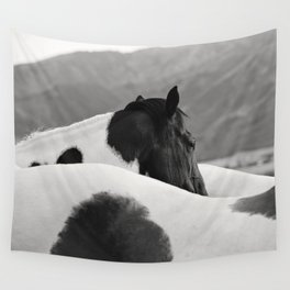 Pinto Horse Photograph Wall Tapestry