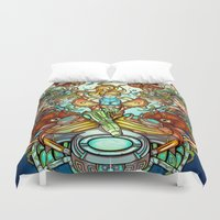spawn Duvet Covers featuring Maternal Instinct by Emilie Boisvert