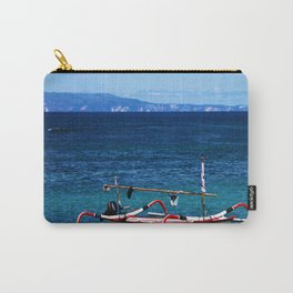 Bali - Row Boat in the ocean Carry-All Pouch