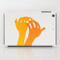 hands iPad Cases featuring hands by alex eben meyer