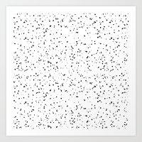 Speckles I: Black on White Art Print