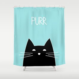Purr Shower Curtain