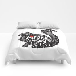 Maine Coon Lovers Black and White Comforters