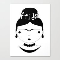 frida Canvas Prints featuring Frida by stavrina inno