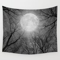 tolkien Wall Tapestries featuring May It Be A Light (Dark Forest Moon) by soaring anchor designs