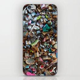 Wall of Love Locks iPhone Skin