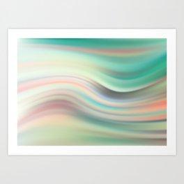 Green mist. Blurred background Art Print