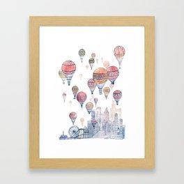 Voyages Over Santa Monica ~ Refresh Framed Art Print