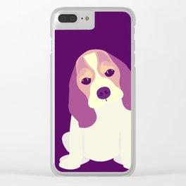 Cute Beagle Puppy Clear iPhone Case