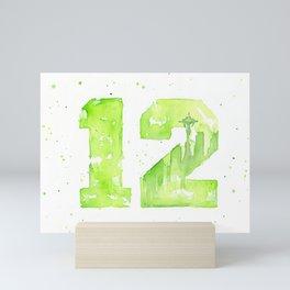 12th Man Seattle Art Mini Art Print