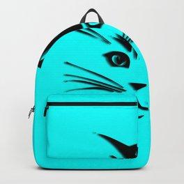 Aqua Kitty Cat Face Backpack