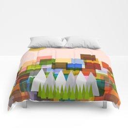Geometric Landscape Comforters