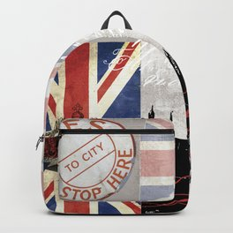 London Collage Backpack