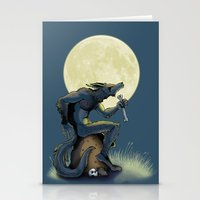 werewolf Stationery Cards featuring Werewolf! by drubskin